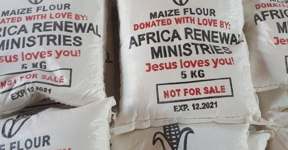 KALAGI AND KAZINGA COMMUNITIES RECEIVE COVID-19 FOOD RELIEF FROM AFRICA RENEWAL MINISTRIES